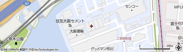千葉県市川市二俣新町周辺の地図