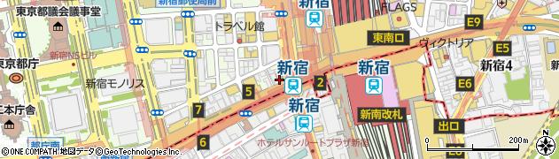 ファーストキッチン ウェンディーズ 新宿南口店周辺の地図