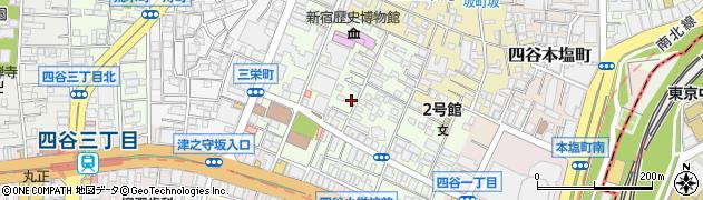 東京都新宿区四谷三栄町周辺の地図