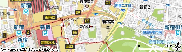 天龍寺周辺の地図