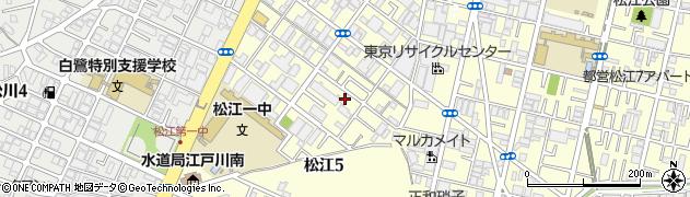 釜寅 一之江店周辺の地図