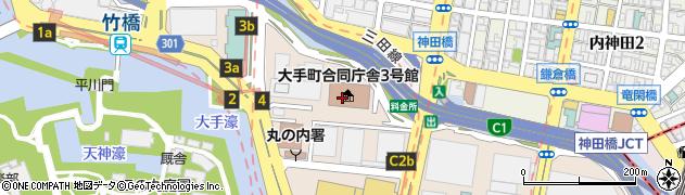 東京都千代田区大手町周辺の地図