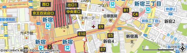 iPhone修理 あいさぽ新宿本店周辺の地図