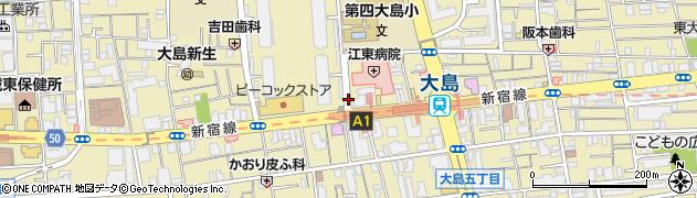 東京都江東区大島周辺の地図