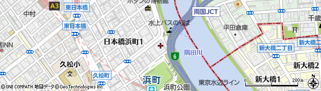 東京都中央区日本橋浜町2丁目62-6周辺の地図