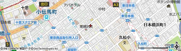 東京都中央区日本橋富沢町周辺の地図