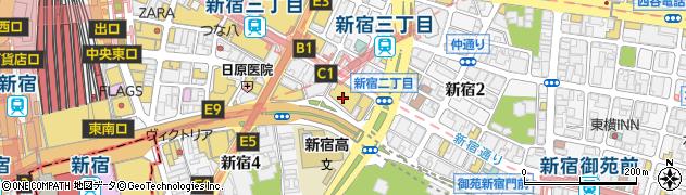 新宿バルト9周辺の地図