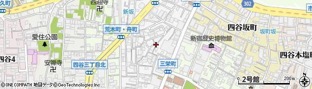 東京都新宿区荒木町周辺の地図