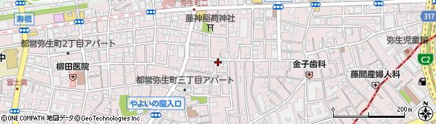 銀のさら 中野店周辺の地図