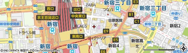 東京都新宿区新宿3丁目35-11周辺の地図