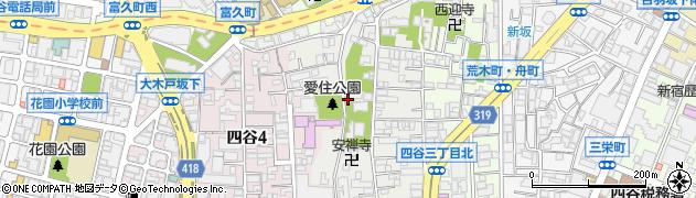東京都新宿区愛住町周辺の地図