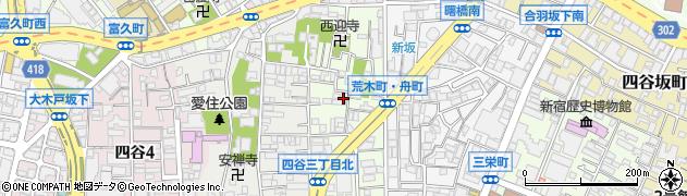 東京都新宿区舟町周辺の地図