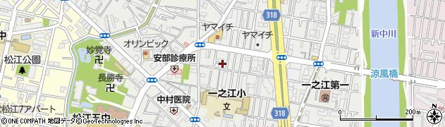 東京都江戸川区一之江周辺の地図