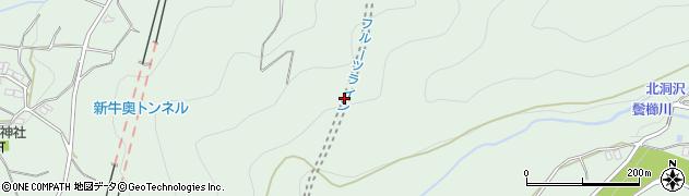 牛奥トンネル周辺の地図