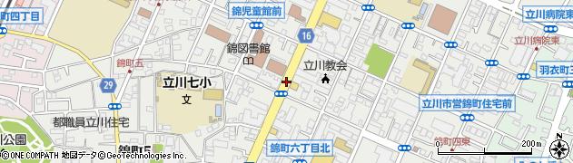 東京都立川市錦町周辺の地図