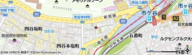 東京都新宿区市谷本村町3-8周辺の地図