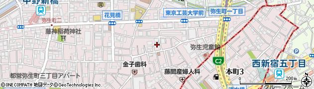 東京都中野区弥生町周辺の地図