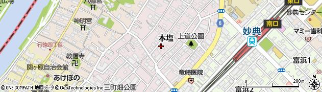 千葉県市川市本塩周辺の地図