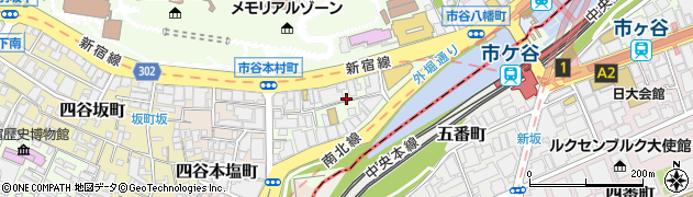 東京都新宿区市谷本村町3-5周辺の地図