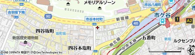 東京都新宿区市谷本村町3-17周辺の地図