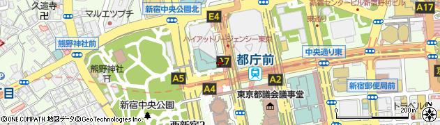 東京都新宿区西新宿周辺の地図