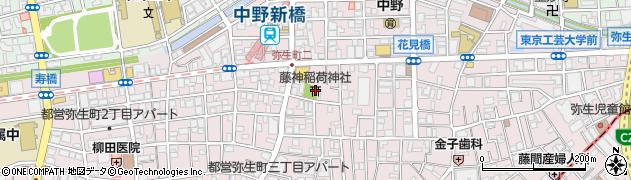 藤神稲荷周辺の地図
