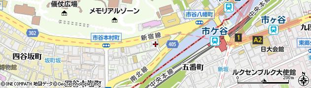 東京都新宿区市谷本村町3-29周辺の地図