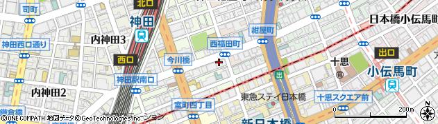 ユニーク神田店周辺の地図
