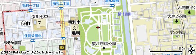 東京都江東区毛利周辺の地図