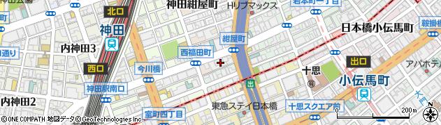 東京都千代田区神田西福田町周辺の地図