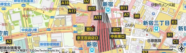 宇治式部郷新宿小田急店周辺の地図