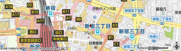 東京都新宿区新宿3丁目17-2周辺の地図