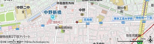 ドミノ・ピザ 中野・新橋店周辺の地図