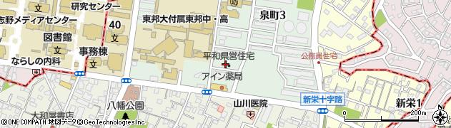 平和県営住宅周辺の地図