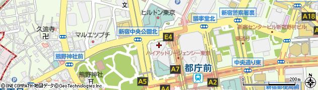 東京都新宿区西新宿2丁目7-1周辺の地図