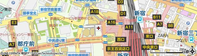東京都新宿区西新宿1丁目7-1周辺の地図