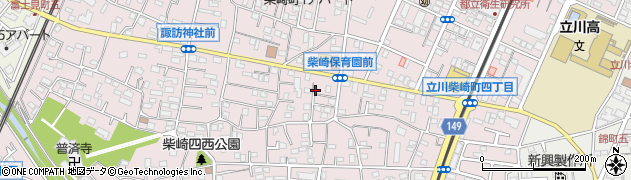 東京都立川市柴崎町周辺の地図