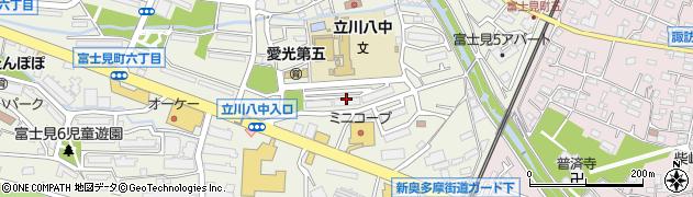 富士見町東住宅周辺の地図