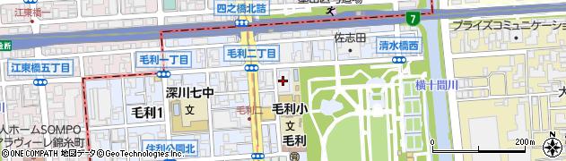 毛利二丁目住宅周辺の地図