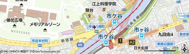 東京都新宿区市谷八幡町周辺の地図