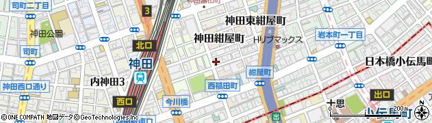 東京都千代田区神田北乗物町11周辺の地図