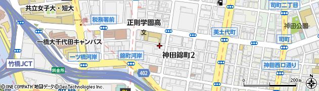 東京都千代田区神田錦町周辺の地図