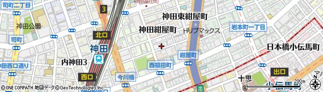 東京都千代田区神田北乗物町10周辺の地図
