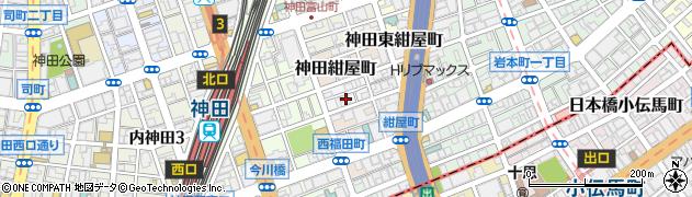 東京都千代田区神田北乗物町8周辺の地図