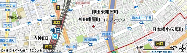 東京都千代田区神田北乗物町9周辺の地図
