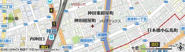 東京都千代田区神田北乗物町周辺の地図