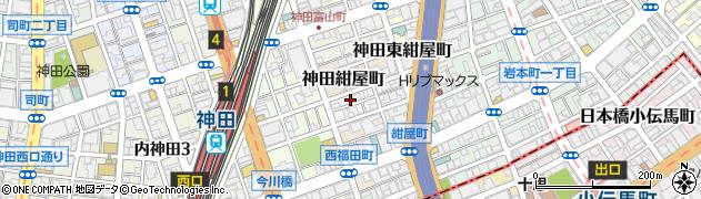 東京都千代田区神田北乗物町16周辺の地図
