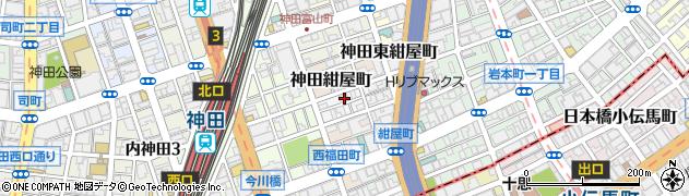 東京都千代田区神田北乗物町17周辺の地図