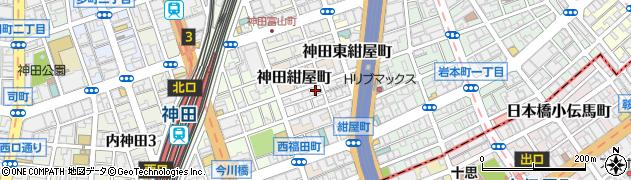 東京都千代田区神田北乗物町18周辺の地図