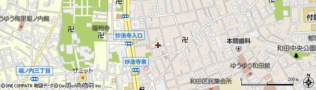 東京都杉並区和田周辺の地図